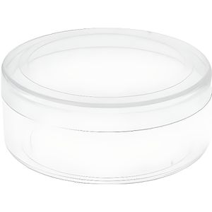 BOÎTE À DRAGÉES  Boîte ronde transparente en PVC (x6) REF/3874
