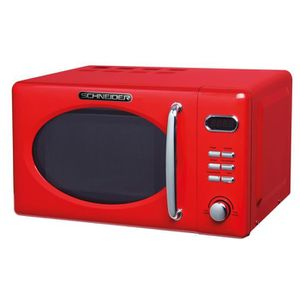 MICRO-ONDES Schneider MW 720 FR rétro micro-ondes rouge feu
