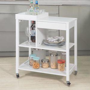 DESSERTE - BILLOT SoBuy® FKW58-W Table roulante Desserte de Cuisine