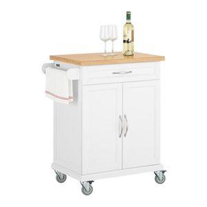 DESSERTE - BILLOT SoBuy® FKW13-WN Desserte Chariot de cuisine de ser