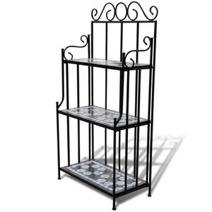 etagere fer forge achat vente etagere fer forge pas cher les soldes sur cdiscount cdiscount. Black Bedroom Furniture Sets. Home Design Ideas