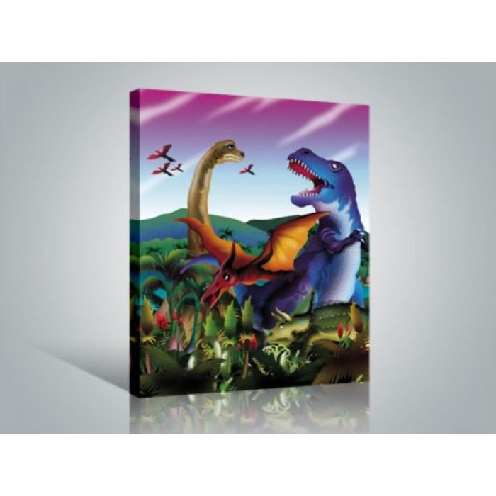 dinosaures poster reproduction sur toile tendue sur ch ssis tyrannosaurus rex diplodocus. Black Bedroom Furniture Sets. Home Design Ideas