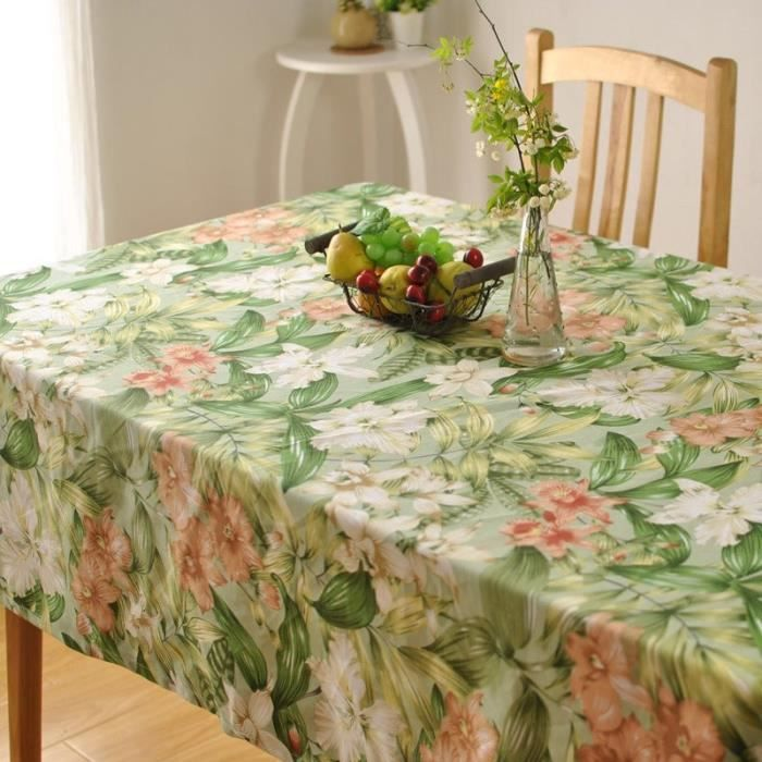 Thick cotton table cloth fresh leaf flower fashion home hotel drape factory outlets BZ312-140x220