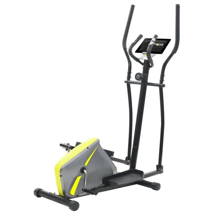 Vélo elliptique magnétique avec mesure du pouls et 2 piles