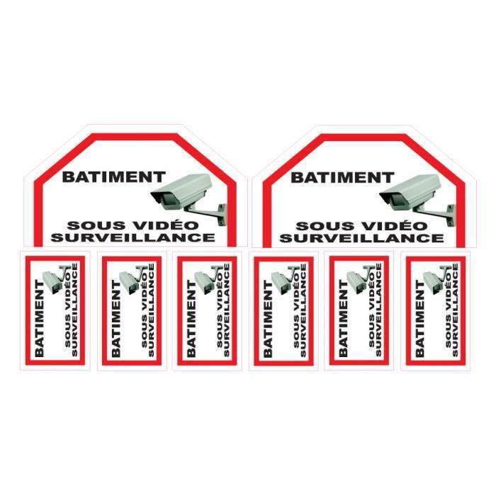 Lot de stickers vidéosurveillance -Batiment-