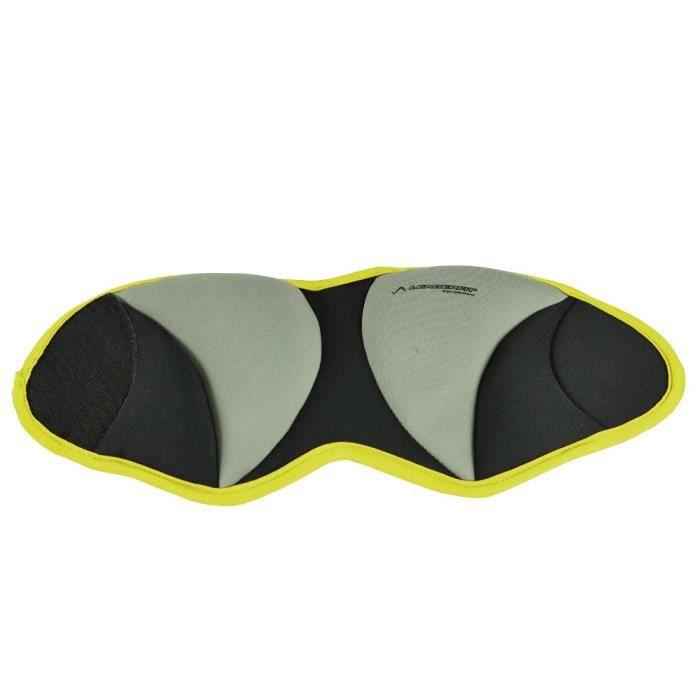 Bandes lestées cheville Leader Fit 0,5kg (x2) - jaune - TU