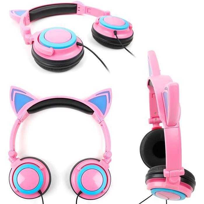 Tablettes tactiles et accessoires pour enfants DURAGADGET Rose-Casque Audio Lumineux pour Console Vtech Magibook Starter 280143
