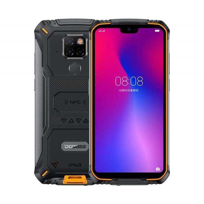 DOOGEE S68 Pro Telephone Portable Incassable, Helio P70 Octa Core 6 Go 128 Go, Smartphone Antichoc IP68, 6300mAh (Charge sans Fil),