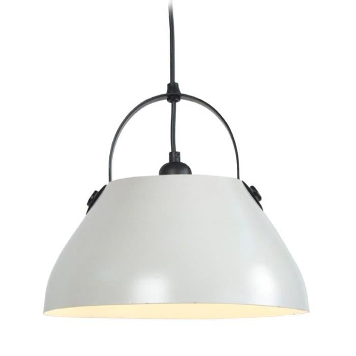 CLOCHE BARRE Suspension acier 30x30x80 cm Blanc