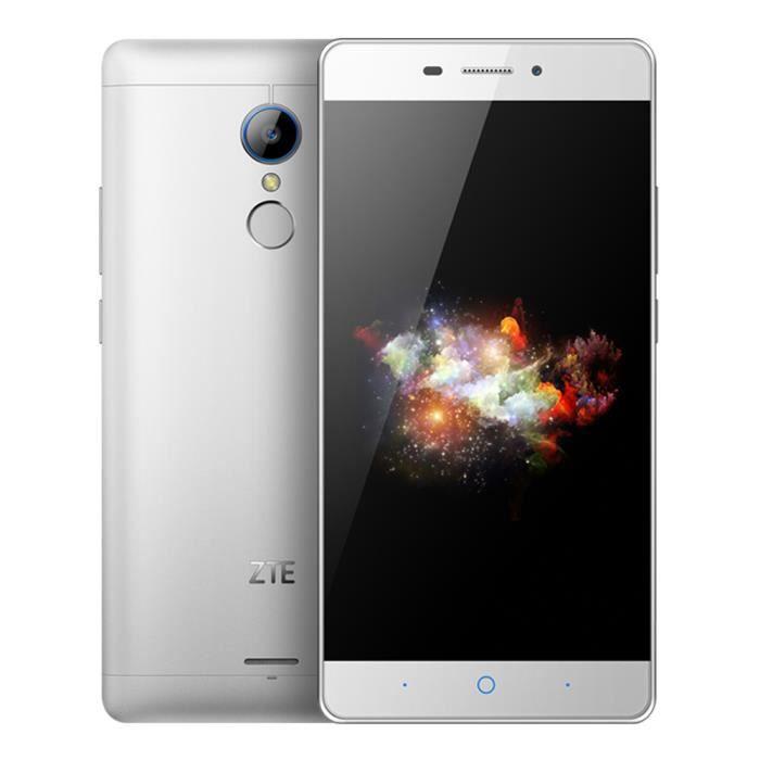 ZTE V5 Pro N939Sc Smartphone Qualcomm Snapdragon 615 Octa-core 2 Go RAM 16 Go ROM 4G FDD-LTE Android 5.1.1 Argent