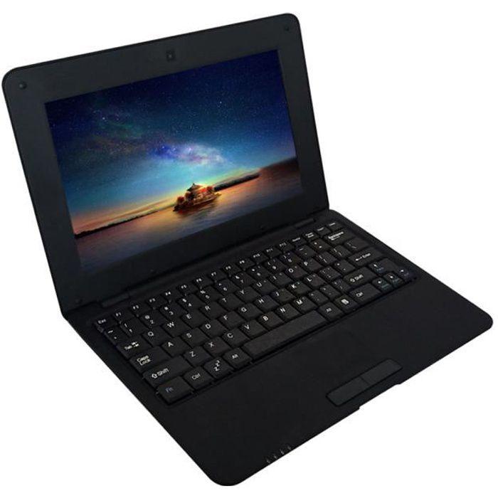 10,1 pouces Netbook portable léger ACTIONS S500 1,5 GHz ARM Cortex-A9 - Android 5.1 - 1G + 8G - 1024 * 600 prise UE noire