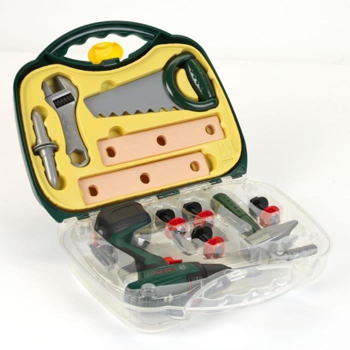 BOSCH - Jouet - Mallette à outils avec visseuse et accessoires pour Enfant