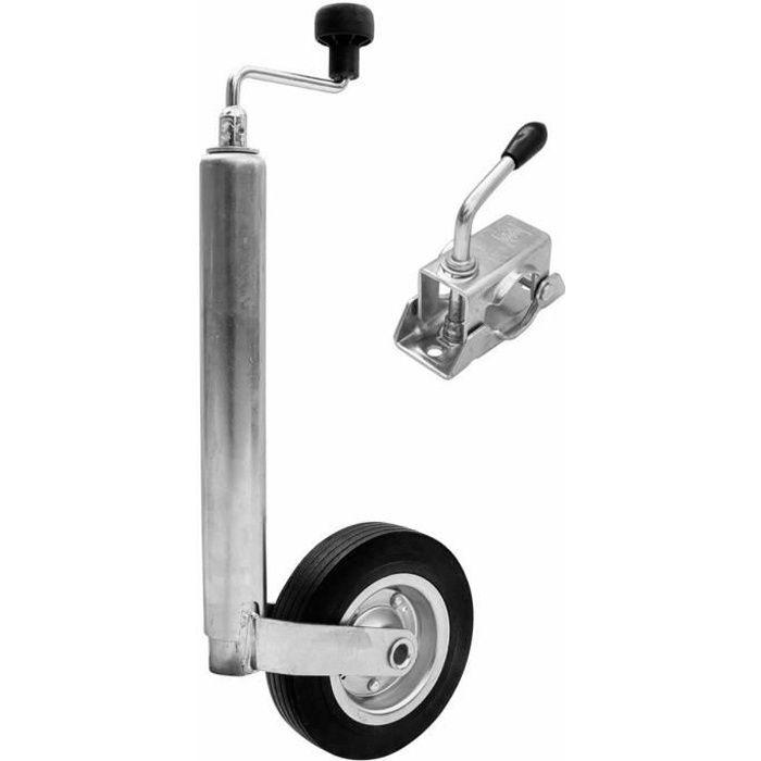 SAFE Roue jockey Winterhoff pour remorque tube Ø 48 mm + collier de serrage