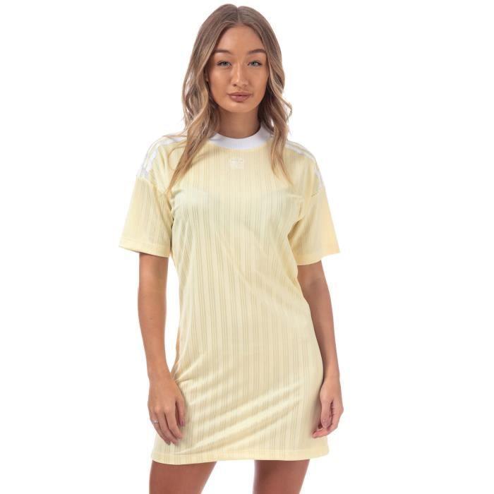 Robe adidas Originals Trèfle pour femme en jaune.