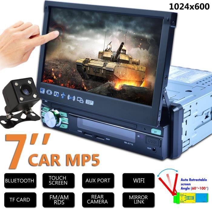 NEUFU 7&quot Autoradio GPS Bluetooth Navigation Voiture Stéréo Tactile Lecteur MP5 FM Multimédia Stéréo Caméra de Recul