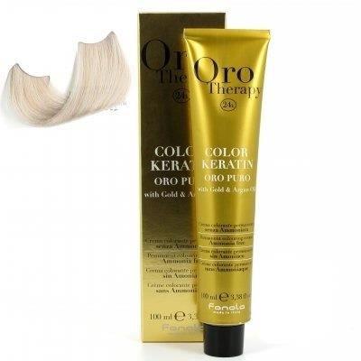 color keratin oro puro n°10.1X blond platine ce…