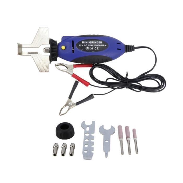 1 ensemble d'affûteur de tronçonneuse 12V Mini affûteur électrique bleu pour CHAINE TRONCONNEUSE - GUIDE POUR TRONCONNEUSE