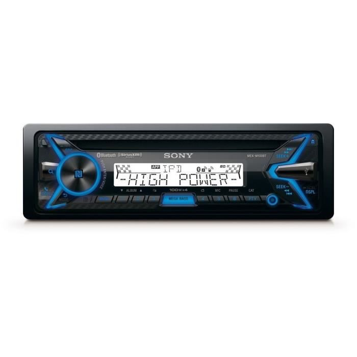 SONY MEXM100BT Autoradio CD - Gamme marine - Bluetooth,NFC, USB, ipod/iphone - 4*100W - Extrabass