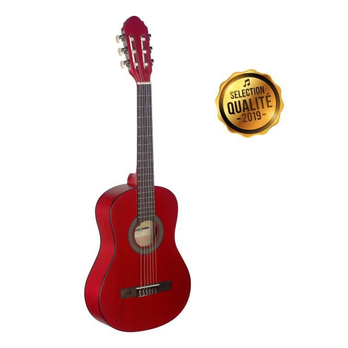STAGG C410 M RED Guitare Classique 3-6 Ans - Rouge