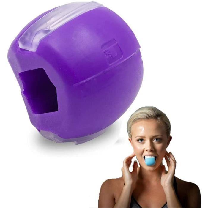 Exerciseur facial en silicone Jaw Face Neck Exerciseur Jawline Fitness Trainer pour hommes femmes -Violet