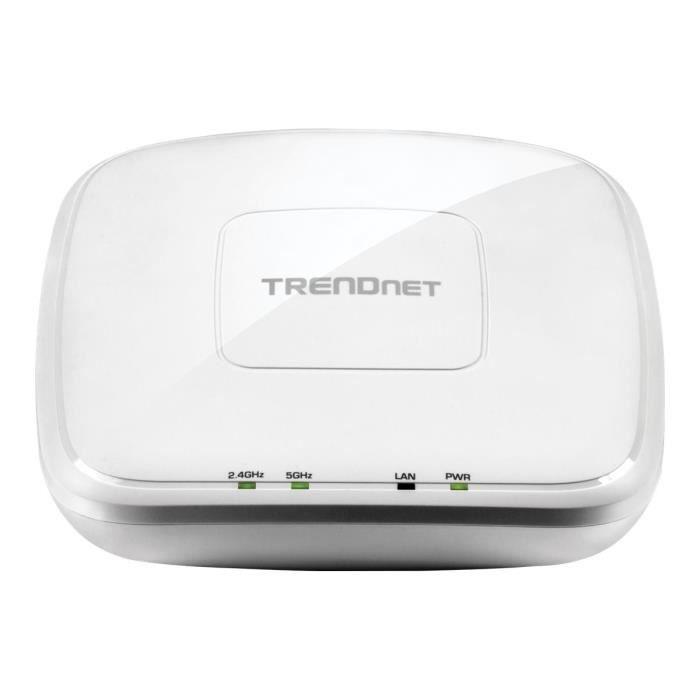 TRENDNET Points d'accès sans fil TEW-821DAP - IEEE 802.11ac - 1,17 Gbit/s - 2,40 GHz, 5 GHz - MIMO Technologie - 1 x Réseau (RJ-45)