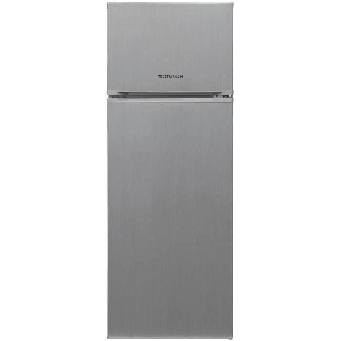 TELEFUNKEN R2P263FS - Réfrigérateur congélateur haut - 212 L (170,5+41,5) - Froid Statique - L 54 x H 144 cm - Silver
