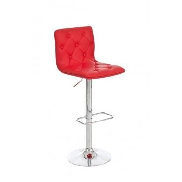 tabouret de bar capitonn mafalda rouge achat. Black Bedroom Furniture Sets. Home Design Ideas