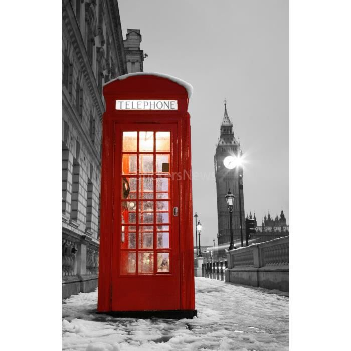 poster cabine telephonique londres achat vente poster cabine telephonique londres pas cher. Black Bedroom Furniture Sets. Home Design Ideas