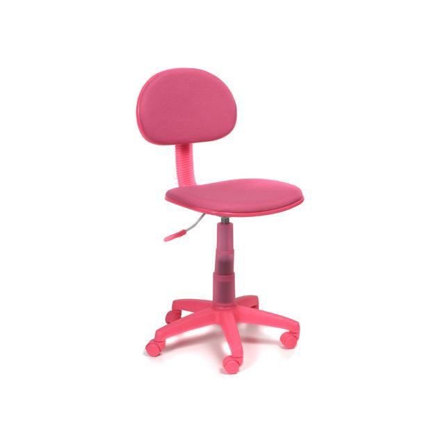 Chaise dactylo rose kiddy achat vente chaise de bureau for Fauteuil de bureau rose