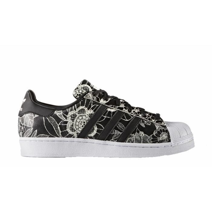 économiser 5b757 d9aad ADIDAS ORIGINALS Baskets Superstar Femme Noir et blanc ...