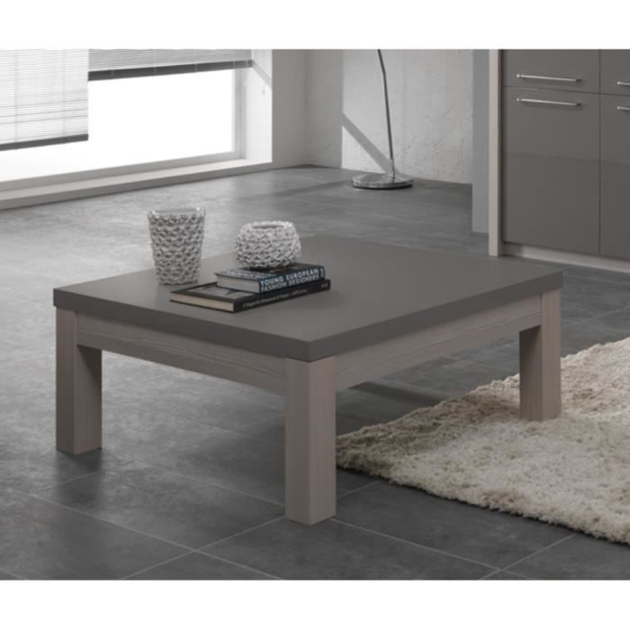 table basse salon carre fano chene gris achat vente meuble tv table basse salon carre fan. Black Bedroom Furniture Sets. Home Design Ideas