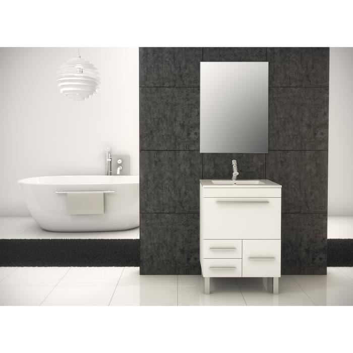 londres meuble de salle de bain blanc 60 cm achat. Black Bedroom Furniture Sets. Home Design Ideas