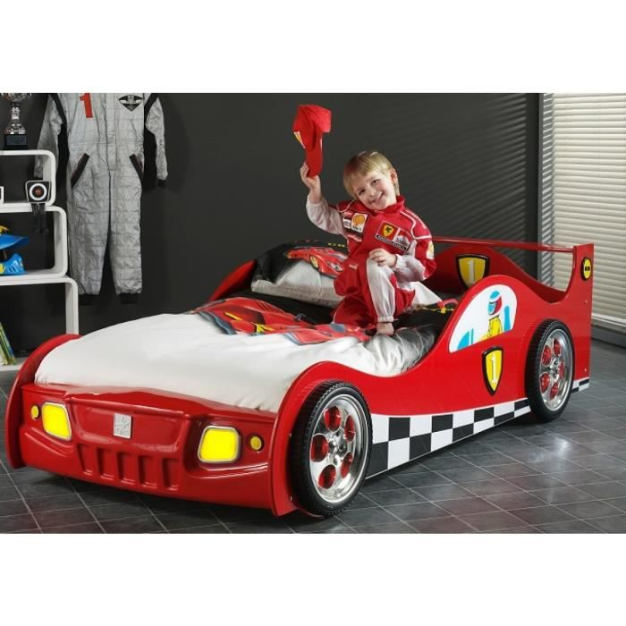 monza lit voiture enfant sommier rouge achat vente. Black Bedroom Furniture Sets. Home Design Ideas