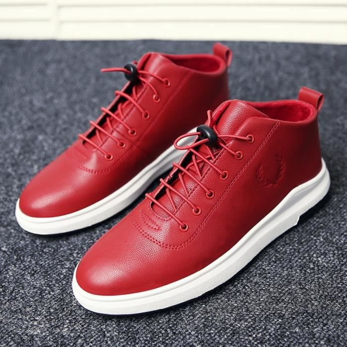 Skateshoes Homme Hiver - automne l'exécution Sneaker antidérapante hommes rouge taille39