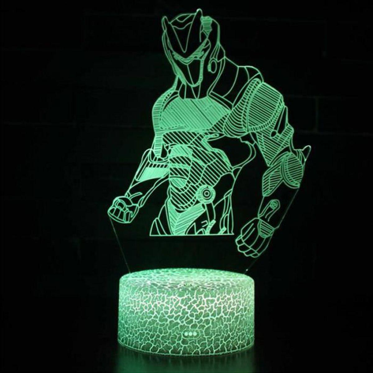Personnalisé 7 Couleurs changeantes DEL 3D lampe de contrôle à distance peut ajouter nom ou texte