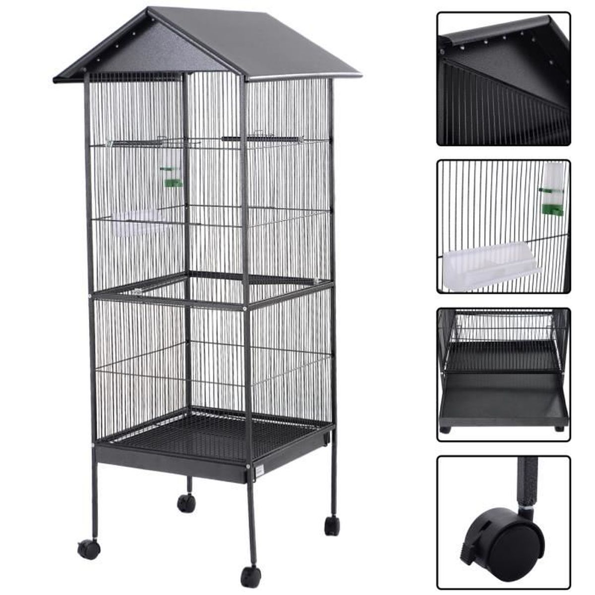 grande cage oiseaux achat vente pas cher. Black Bedroom Furniture Sets. Home Design Ideas