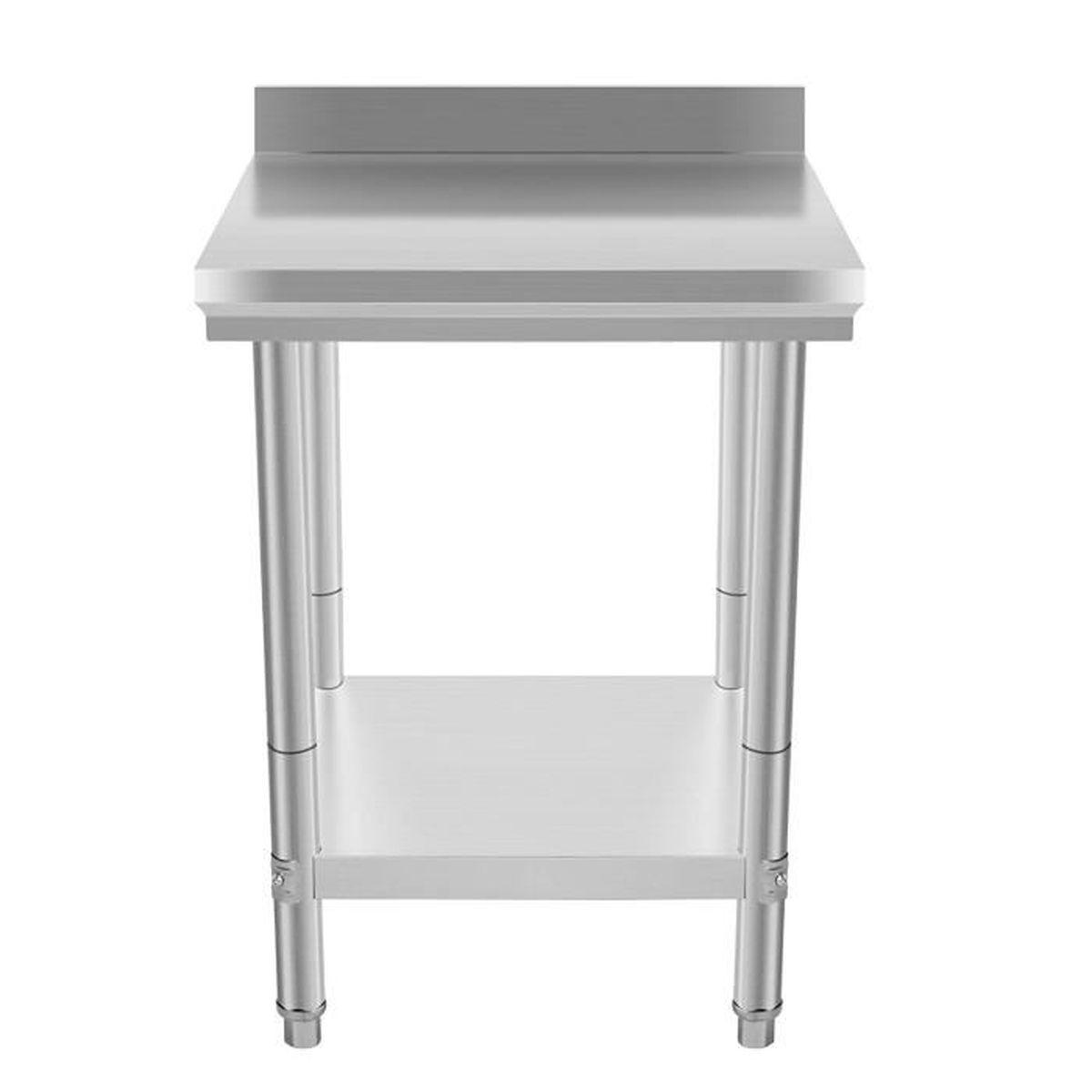 Table Coulissante Sous Plan De Travail table de travail l 600 x p 600 mm en inox- coolmall - achat