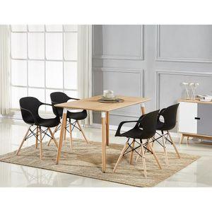 TABLE À MANGER COMPLÈTE Table à Manger Effet Chêne + 4 Chaises Modernes No