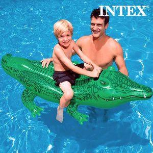 Bouée Enfants Crocodile Piscine Plage Large Gonflable Alligator Poignée Matelas