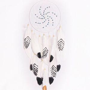 LEORX Dream Catcher Attrape-r/êves Capteur de R/êves Indien Handmade Dreamcatcher Blanc