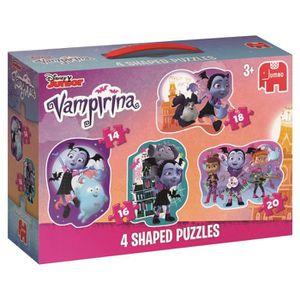 PUZZLE Disney 19627Vampirina en Forme de 4en 1Puzzle,