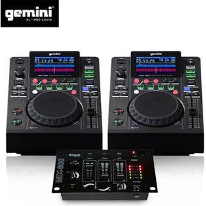 TABLE DE MIXAGE Double Platines Lecteurs LCD Gemini MDJ-500 Pro US