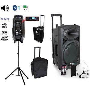 PACK SONO Pack IBIZA Sono portable Port12vhf-BT + pied encei
