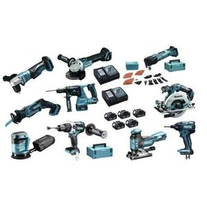 PACK DE MACHINES OUTIL Pack 10 outils MAKITA DLX1006TJX1 à batteries LXT