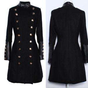 Manteau femme,manteau longue à double boutonnage style