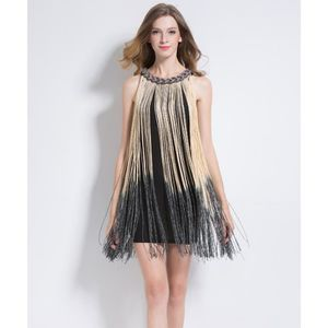 ROBE Dames Tassel Dress Great Gatsby Ombre Drapé Costum