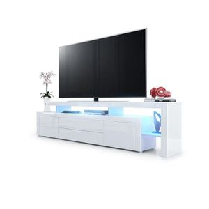 meuble tv blanc laque achat vente meuble tv blanc. Black Bedroom Furniture Sets. Home Design Ideas