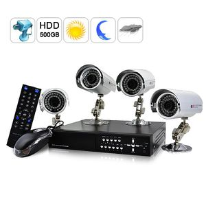kit de surveillance ext rieur 4 cameras ip achat vente kit vid osurveillance cdiscount. Black Bedroom Furniture Sets. Home Design Ideas