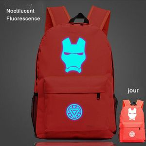 CARTABLE Iron Man -Sac à dos Noctilucent Fluorescence-carta