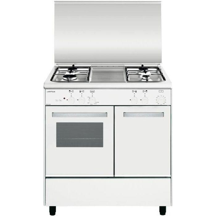 Airlux AA8PGWH2, Built-in cooker, Blanc, boutons, Rotatif, Devant, 1,3 m, Acier inoxydable